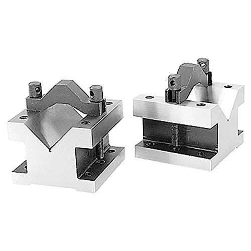 HHIP 3402-0002, 2-3/8 L X 2-3/8 W X 2 H PRECISION V-BLOCK & CLAMP SET (Vee Block)