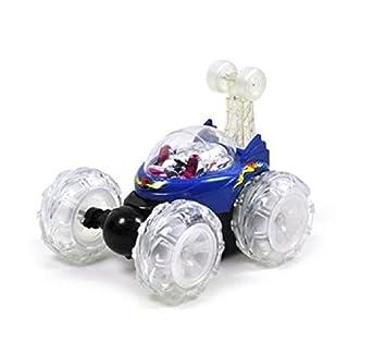 Turbo 360 Twister Rc Stunt Car con las luces que destellan recargable azul o rojo: Amazon.es: Juguetes y juegos