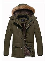 Wicky LS Men's Warm Thicken Winter Fur Hoodie Jacket Coat