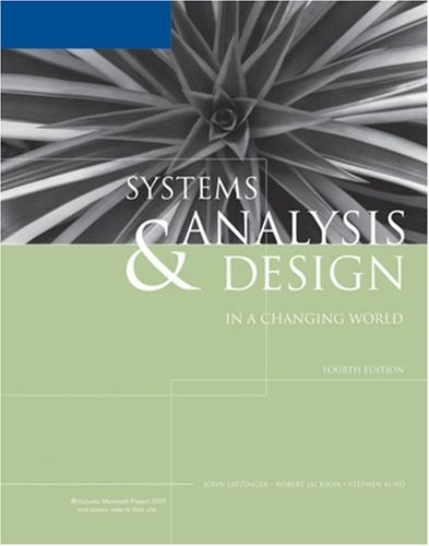 Satzinger Systems Analysis And Design Pdf