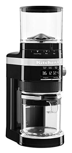 KitchenAid KCG8433OB Burr Coffee Grinder, 10 oz, Onyx Black