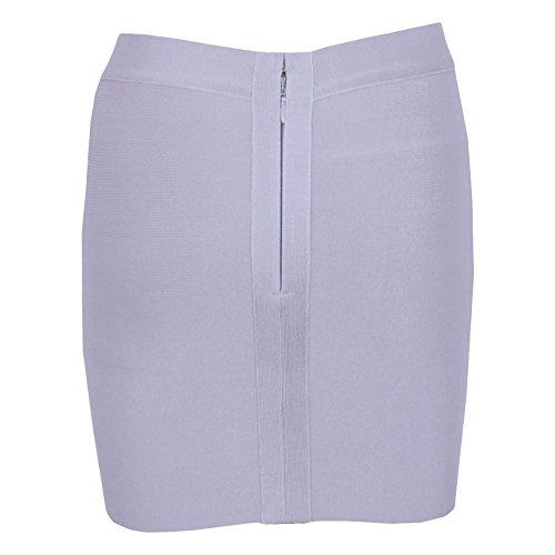 HLBandage Gris Skirt Irregular Bandage Women's Mini Sexy wnqwO7Rf