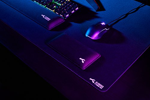 Glorious XXL Extended Gaming Mouse Mat/Pad - Large, Wide (XLarge) Black  Cloth Mousepad, Stitched Edges | 36x18