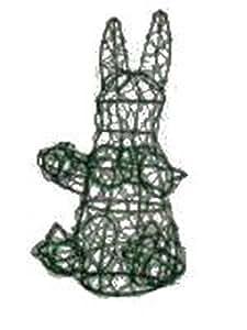 Conejo 18pulgadas de alto x 8pulgadas x 8pulgadas Diámetro Topiary marco, hecho a mano animal Decoración