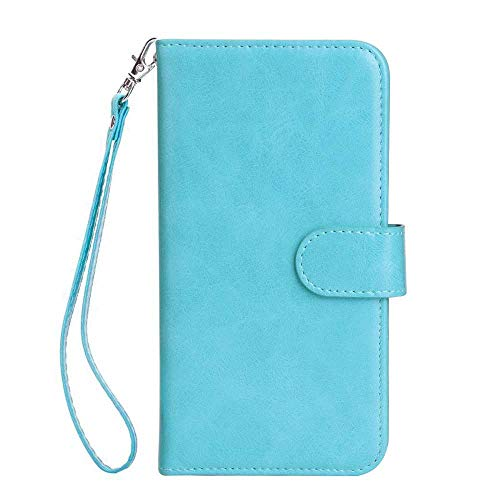 (Galaxy S7 Edge Case, Bear Village Premium PU Leather Stand Wallet Case 9 Card Slots Cover with Magnetic Clasp and Wrist Strap for Samsung Galaxy S7 Edge (#4 Blue))