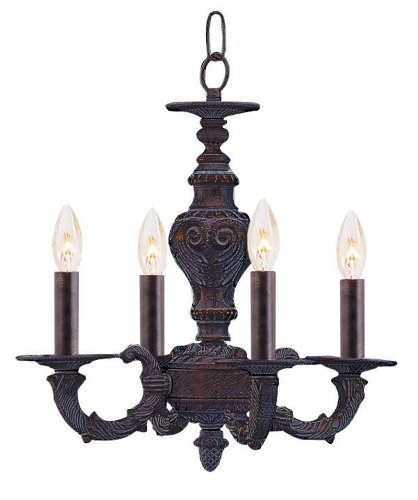 (Crystorama 5124-VB Traditional Mini Chandelier from Abbie collection in Bronze/Darkfinish,)
