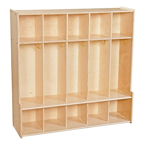 (Sprogs Wooden Five-Section Locker Unit with Seat - Unassembled, SPG-4185)