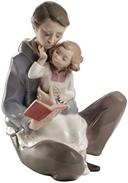 NAO Read Me A Story. Porcelain Dad Figure.