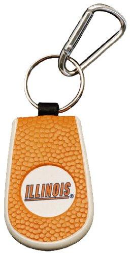 (Illinois Fighting Illini Team Color Basketball Keychain)