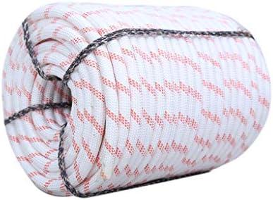 ZHWNGXO Praktisches Seil, 8mm mit Stahldraht-Polyester Sicherungsseil Anwendbar auf Technik Schutz Cave Exploration Weiß 10 Größen (Size : 70m)
