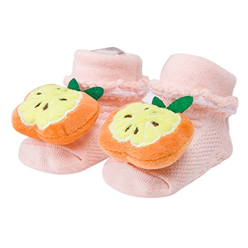 Happy Cherry - 4 Paires Chaussettes Bébé Enfants Filles Garçons - Chaussons Avec 3D Animal Mignon - Couleur Aléatoire - Idéal pour 0-12 mois