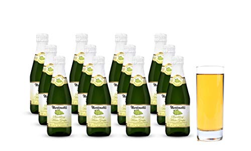Martinelli's Sparkling White Grape Juice, 8.4 oz.  Pack of 12 Bottles | Non-Alcoholic Drink