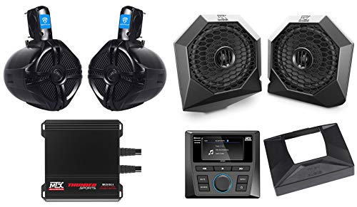 Tower Speakers+Amp+Bluetooth Receiver for 2014-2018 Polaris RZR XP1000/900