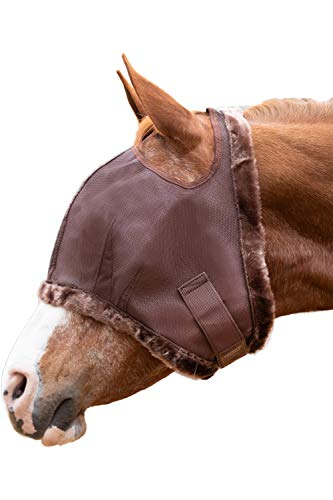 - Kensington Fly Mask Fleece Trim for Horses - Protects Face, Eyes from Flies, UV Rays While Allowing Full Visibility - Breathable Non Heat Transferring, Perfect Year Round, (M, Sorrel)