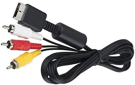 Compuesto S-Video RCA AV 2In1 Cable de Audio y Video Cable S-Video AV Cable para Ps2 para Ps3 para Playstation 2 3 Consola: Amazon.es: Electrónica