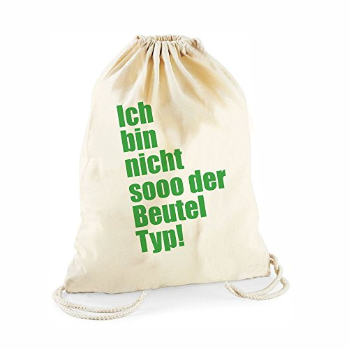 Statement-Turnbeutel in natur Ich bin nicht sooo der Beutel Typ! - Gym-Bag Rucksack Hipster Gymsac Sportbeutel Tasche Geschenke Geschenkidee