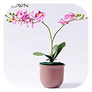 Memoirs- Artificial 2 Branch Orchid Home Decoration Fake Flower Decoration Floral for Mom Flores Wedding Decor 83
