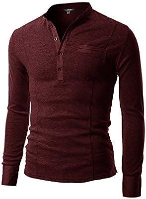 Black, Coofandy Men/'s Basic Long Sleeve Henley Shirt Casual Slim Fit T Shirt