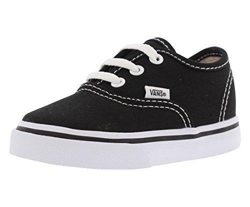 Vans Kids' Authentic-K, Black/True White, 8 M US Toddler