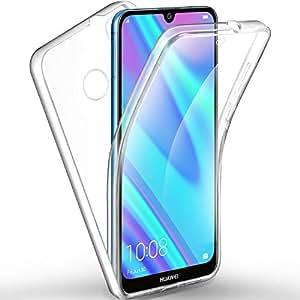 ivencase Funda Huawei Y7 (2019)/Huawei Y7 Prime (2019), Doble Cara Carcasa Protector Transparente TPU Silicona + PC Dura Resistente Anti-Arañazos ...