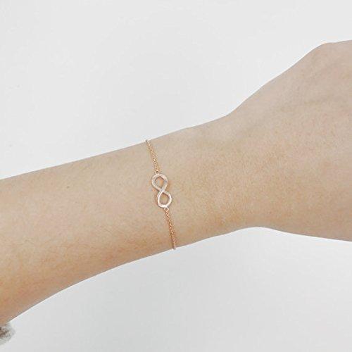 14K Solid Gold Infinity Bracelet, Charm Bracelet, Dainty Bracelet, Gold Bracelet, Knot Bracelet by JSVConcept