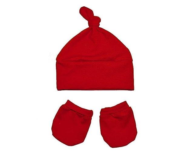 b70be683dea45 Ensemble bonnet et moufles de naissance, fait à la main avec le ...