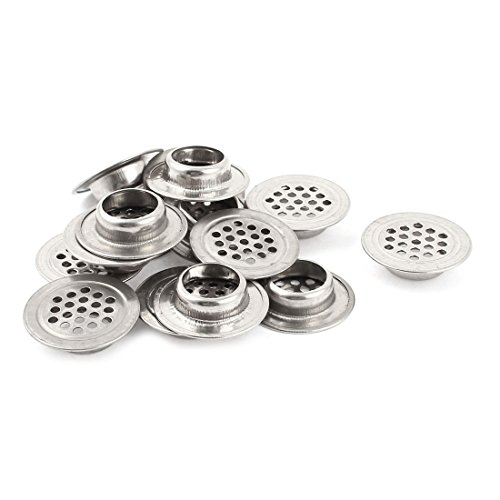 Home Silver Tone Stainless Steel Round Air Vent Louver 1.2