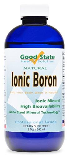 Good State | Natural Ionic Boron | Nano Sized Mineral Technology | Professional Grade Dietary Supplement | Improves Brain Function & Bone Strength | 8 Fl oz Bottle (240 mL)