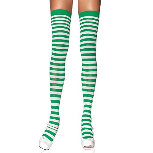 Leg Avenue Womens Nylon Striped Stockings -