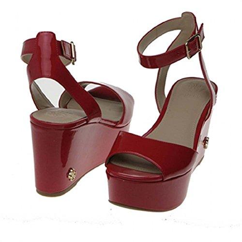 GUESS Sandalias Mujer Cuñas Talla 38 Rojo