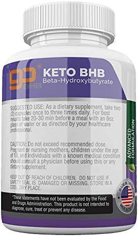 Keto BHB Pills 1200mg Ketogenic Keto Pills for Women and Men Ketogenic Carb Blocker Best Keto Diet Pills for Women and Men Helps Boost Energy & Metabolism, 60 Capsules 4