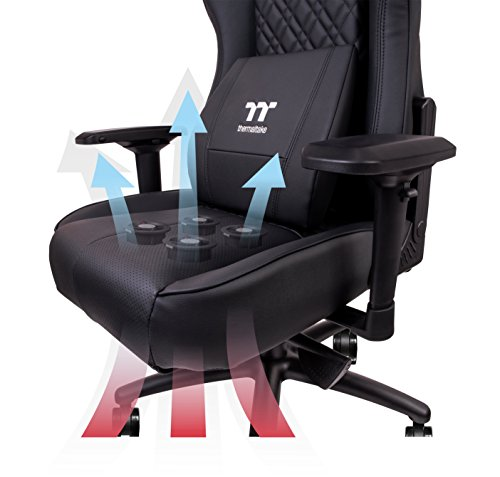 cooling office chair. Thermaltake Tt ESPORTS X Comfort Air Gaming Office Chair With 4 On-the-fly Adjustable Cooling Fans Black - GC-XCF-BBLFDL-01 () PCPartPicker