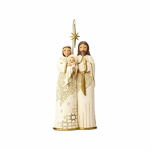Family Christmas Figurines - Enesco Jim Shore Heartwood Creek Golden Garland Behold and Believe Holy Family Figurine, 11
