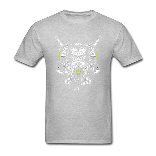 JustLikeSun Men's Angry Ape With Skull And Axes T Shirt -