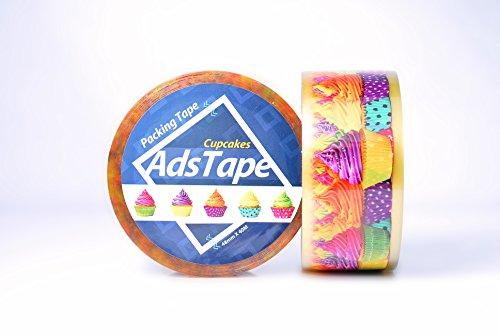 ADSTAPE Cupcake Design Cellophane Packing Tape