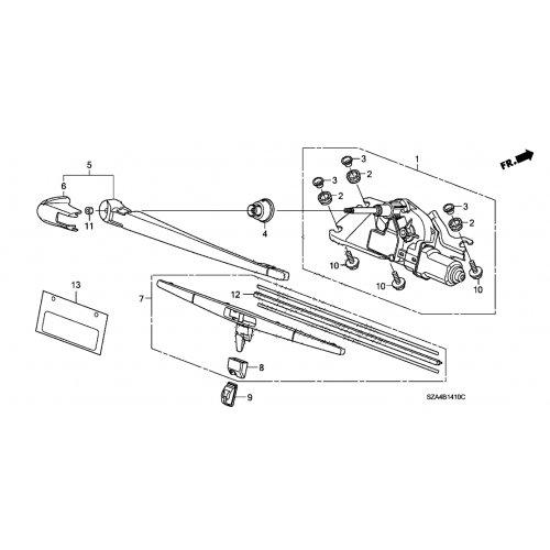2009-2015 Honda Pilot Rear Wiper Arm Slider Cover