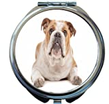 Rikki Knight English Bulldog Design Round Compact Mirror