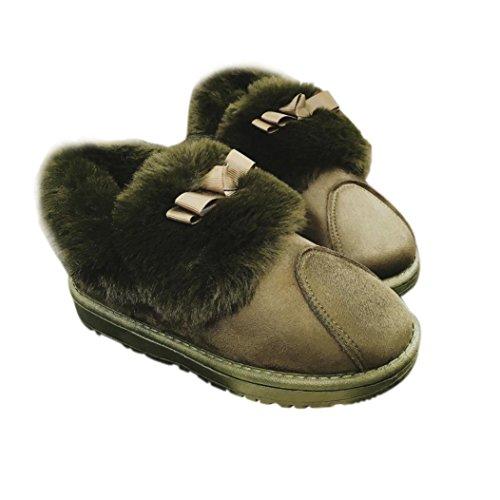 Botas Mujer,Ouneed ® Las mujeres mantienen la marta cálida botas de nieve zapatos de invierno marrón