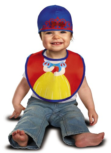 Disguise Baby Girl's Disney Snow White Infant Bib and Hat, Red/Yellow/Blue, 0-6 Months]()