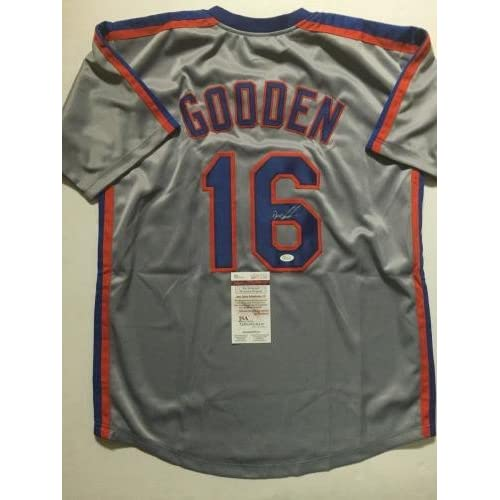 finest selection 1be61 f5ebe best Dwight Gooden Autographed Jersey - DOC Grey COA - JSA ...