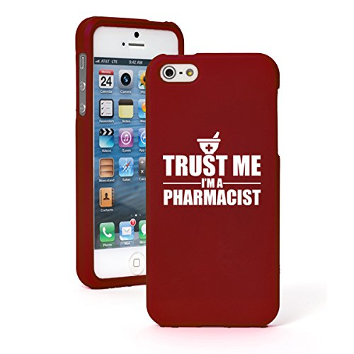 """Apple iPhone 6 (4.7"""") Snap On 2 Piece Rubber Hard Case Cover Trust Me I'm a Pharmacist (Red)"""