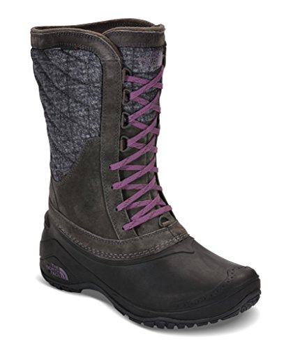 The North Face Women's Thermoball Utility Mid Boot - Burnished Houndstooth Print/Black Plum - 6.5