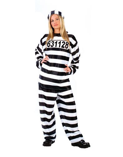 Adult Jailhouse Honey Costume, One (Womens Prisoner Costumes)