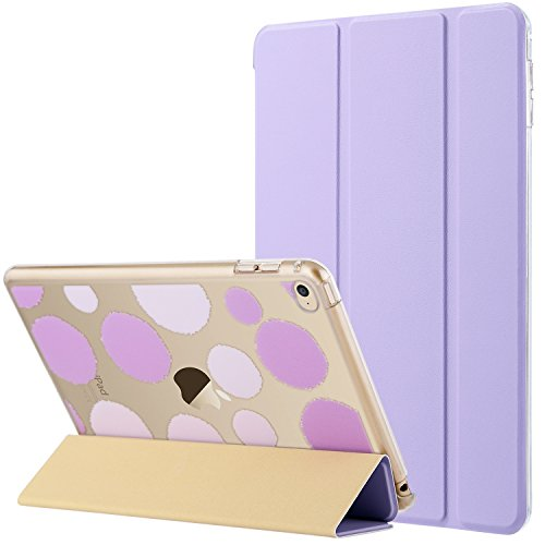 (ULAK iPad Mini 4 Case, Mini 4 Case, Lightweight Slim Smart-Shell Stand Cover with Auto Wake/Sleep Function for Apple iPad Mini 4 7.9 inch 2015 Release Tablet, Lavender)
