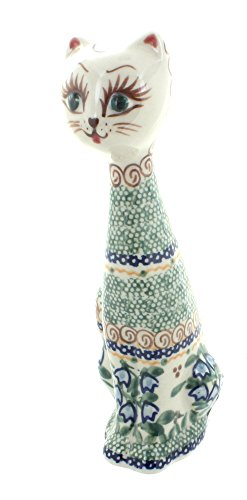 Polish Pottery Bluebell Small Cat ()