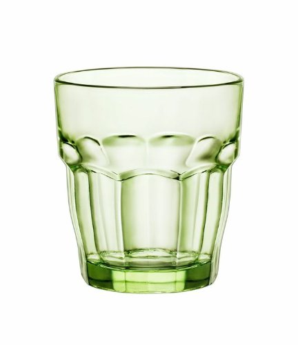 Bormioli Rocco Rock Bar Lounge Rocks Glasses, Mint, Set of (Old Green Glass)