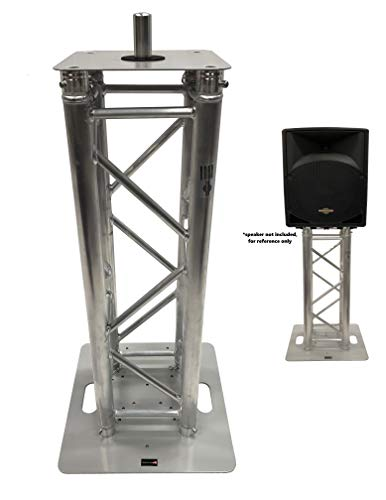 (DJ Lighting Aluminum Truss Light Weight 1 Meter 3.28 ft Totem System Moving Head Includes Aluminum Mount For Speakers+Perfect For Lights)