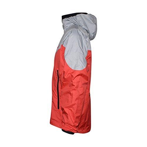 Nike Sportswear Windrunner Men's Jacket (Medium, Wolf Grey/Track Red)
