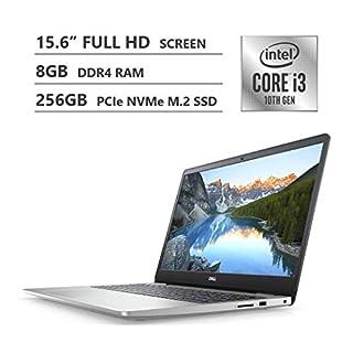 "2020 Newest Dell Inspiron 15 5000 Series Laptop, 15.6"" Full HD Screen, 10th Gen Intel Core i3-1005G1 Processor, 8GB DDR4 RAM, 256GB PCIe NVMe M.2 SSD, HDMI, Wi-Fi, Bluetooth, Windows 10 Home, Silver"