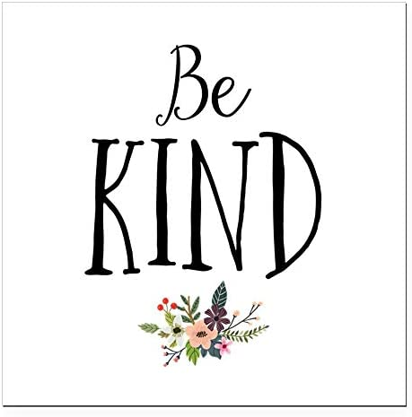 CafePress Be Kind Square Car Magnet 3 X 3 Bumper Sticker 1008329608